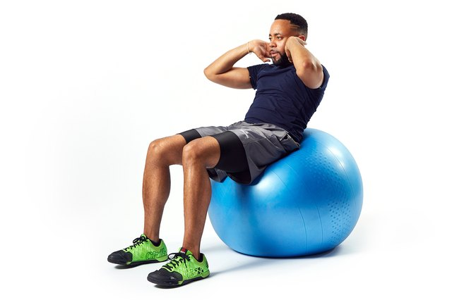 A Swiss ball increases your range of motion for crunches.