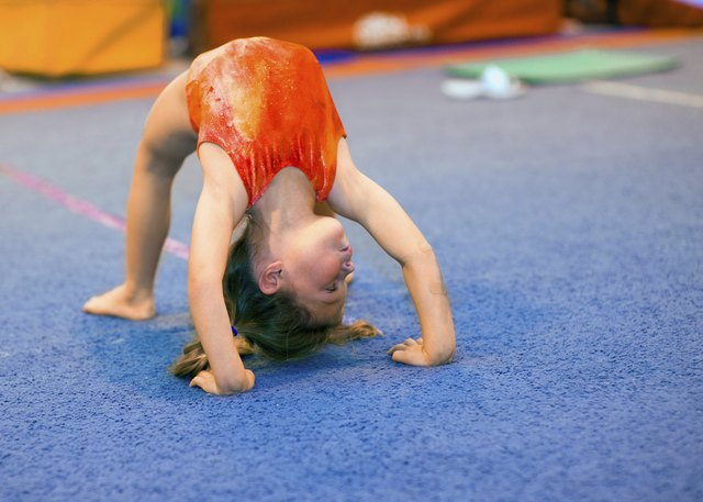 Girls can excel at gymnastics, even at a young age.