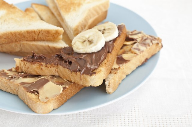 Banana and peanut butter.
