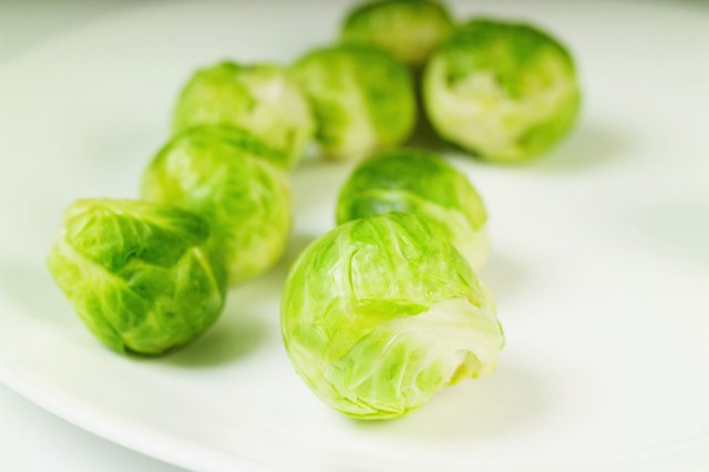 Steamed brussel sprouts.