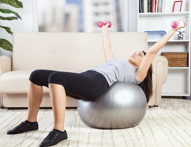 Use equipment to exercise at home.
