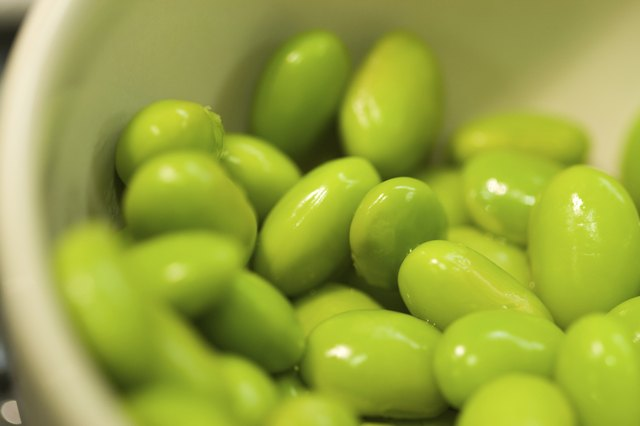 Edamame (soybeans) in bowl