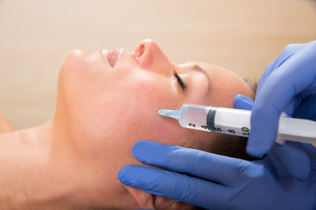woman receiving fillers
