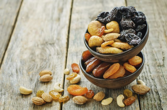 Avoid dried fruit and nuts on the BRAT diet.