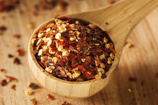 Crushed red pepper comes from the pods.