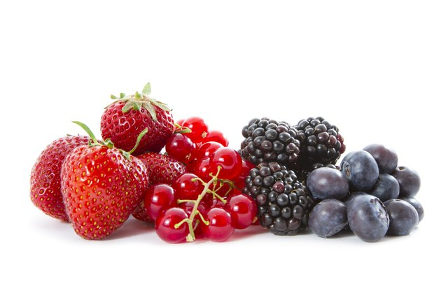 Fruits are high in fiber.
