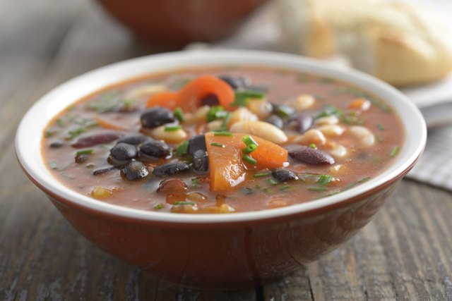 Bean soups are a good soure of protein.