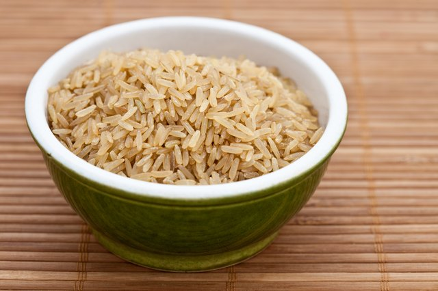 Brown rice is a high fiber food.