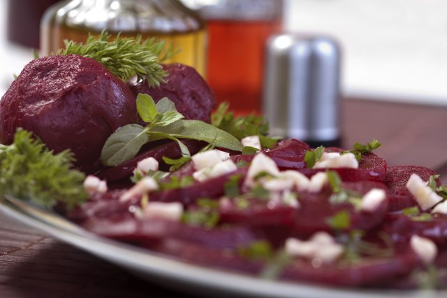 Cold beets over salad.