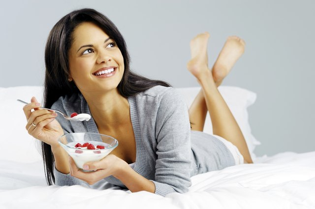 You can eat yogurt on a light diet.