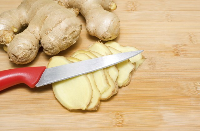 Fresh ginger root can help reduce fever and coughing.