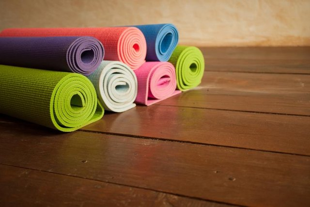 Yoga mats often have a bumpier side on which to practice.