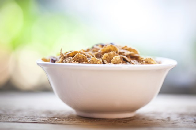 bowl of fortified cereal