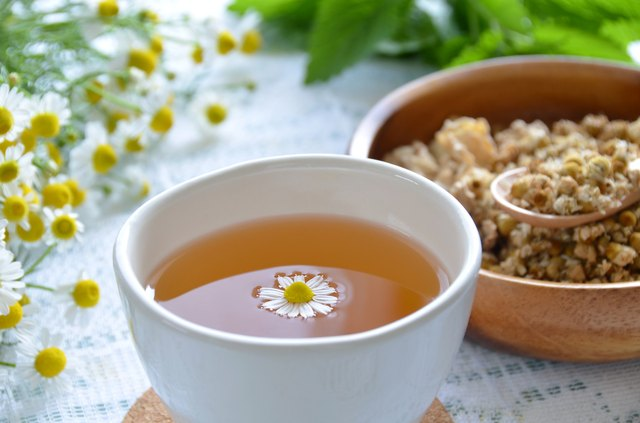 soothing chamomile tea