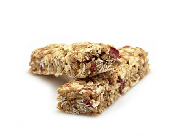 Consider eating a granola bar before a morning workout.