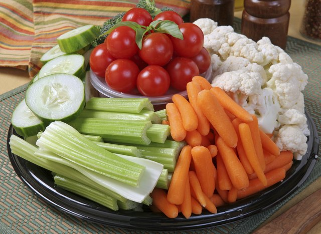 A healthy vegetable platter