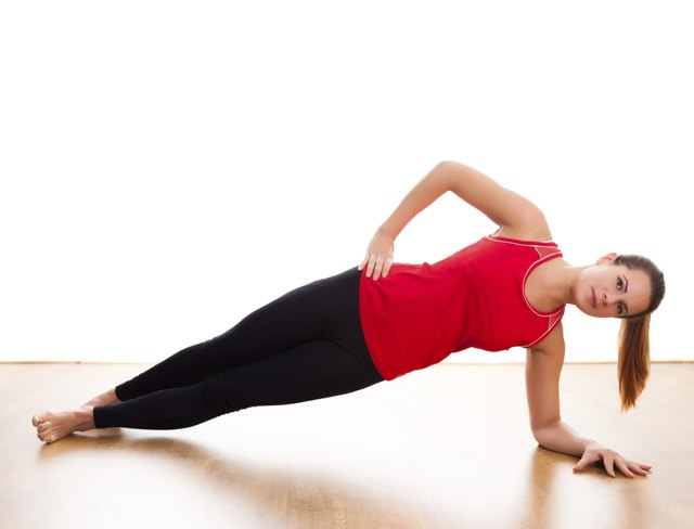Target the obliques with side planks.
