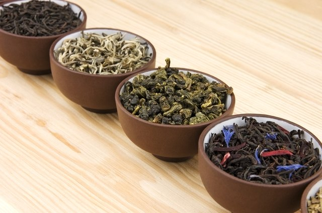 different types of dried teas
