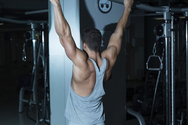 Pull-ups work a variety of muscles.