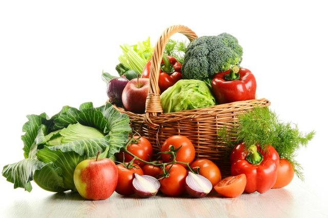 Fruits and vegetables help you avoid a distended stomach from constipation.