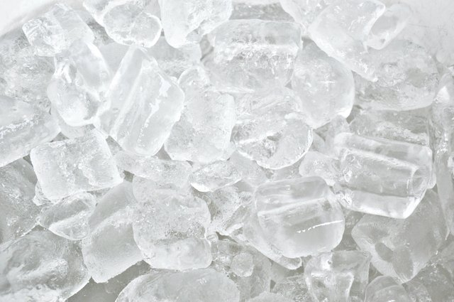 Piles of ice cubes