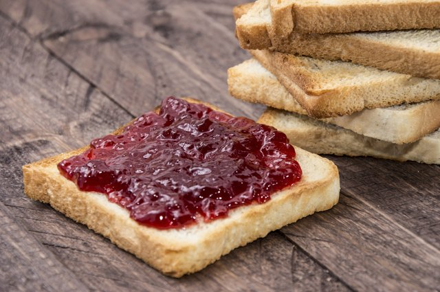 fruit jam spread on toast