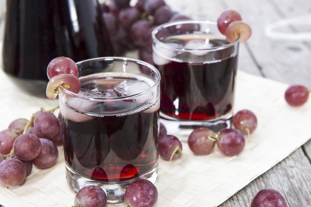 Two glasses of grape juice