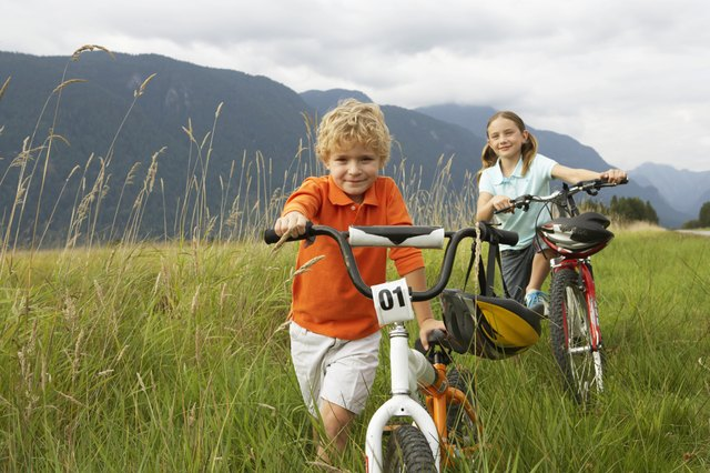 Most children begin riding a two-wheeler bike between the ages of 3 and 4.