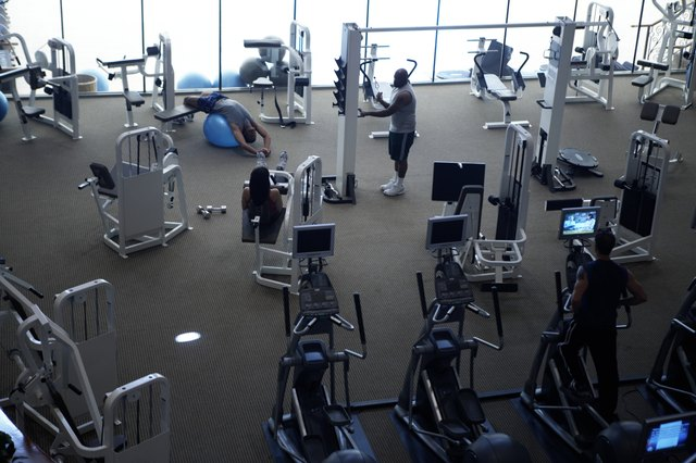 The gym offers a wide variety of machines to strengthen your legs.