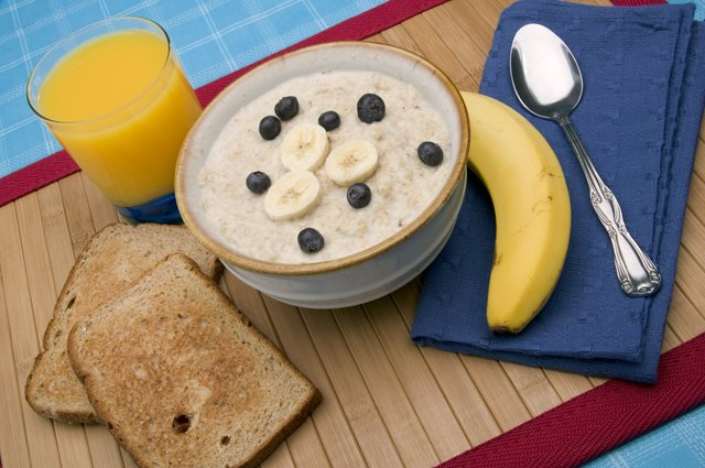 Your morning post-workout meal should focus on carbohydrates such as whole-grain toast, fruit, oatmeal, potatoes or whole-grain cereal