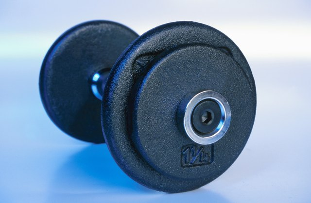 Dumbbells may be used in chest exercises.