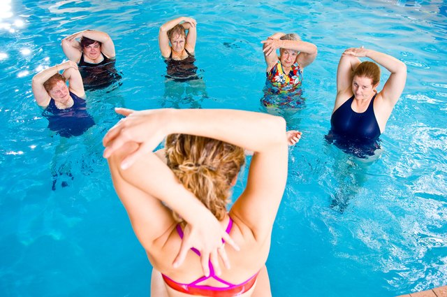 Low-impact water aerobics classes may be available at a local facility.