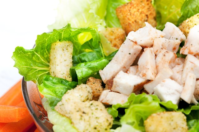 Lean chicken breast will add protein without fat.