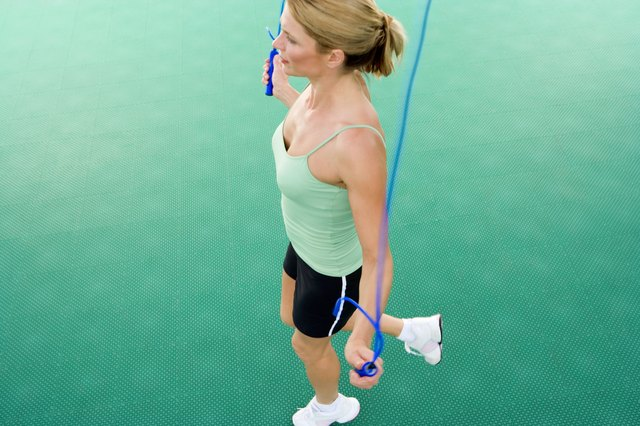 Jumping rope helps burn stomach fat.