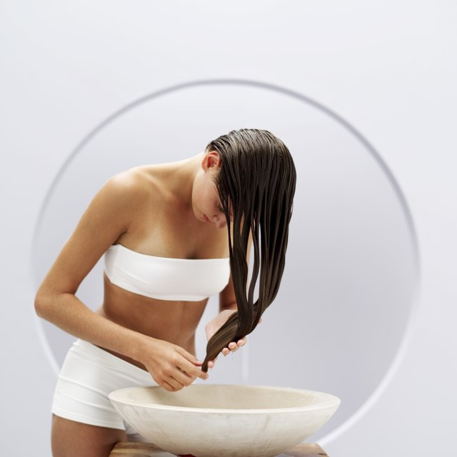 Wet hair prevents chlorine from fully absorbing into the hair follicle.
