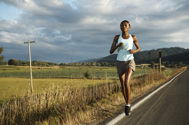 Interval training consists of fast running alternated with slow running or walking.