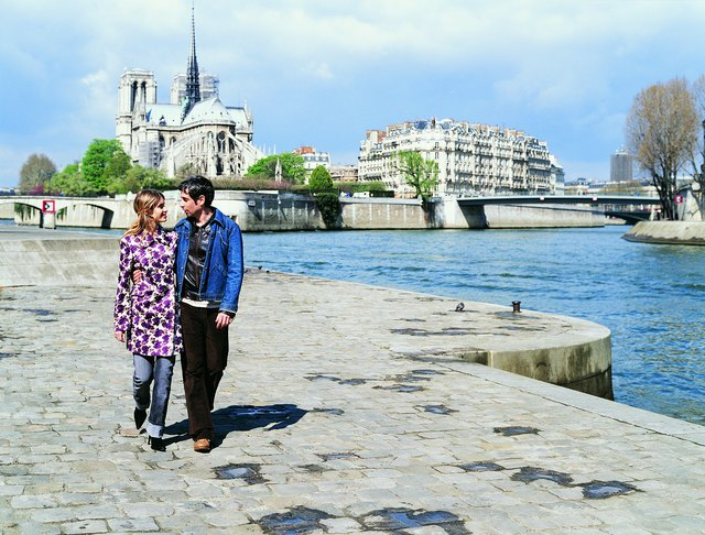 French couple walking