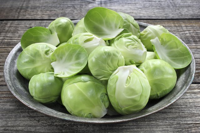 raw brussel sprouts
