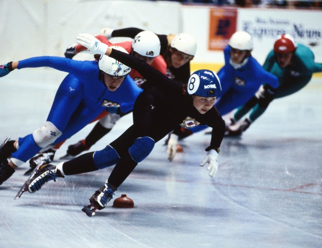 Some rinks serve as training facilities for speed skating.
