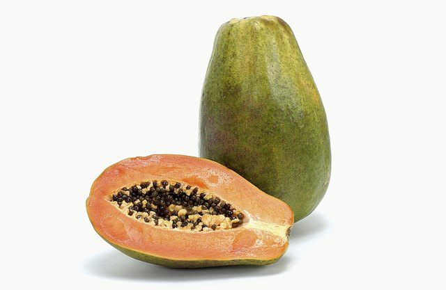 Papaya contains Vitamin C.