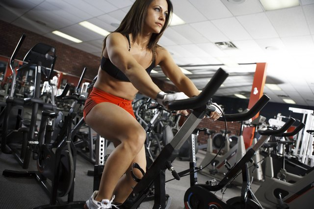 Stationary cycling provides a workout that avoids stressing weight-bearing joints.