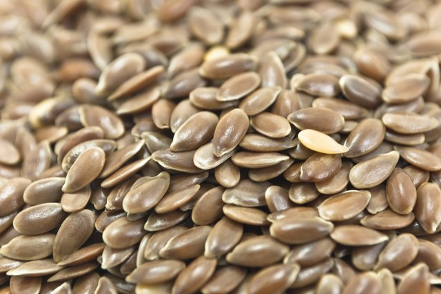 A close-up of flaxseeds.