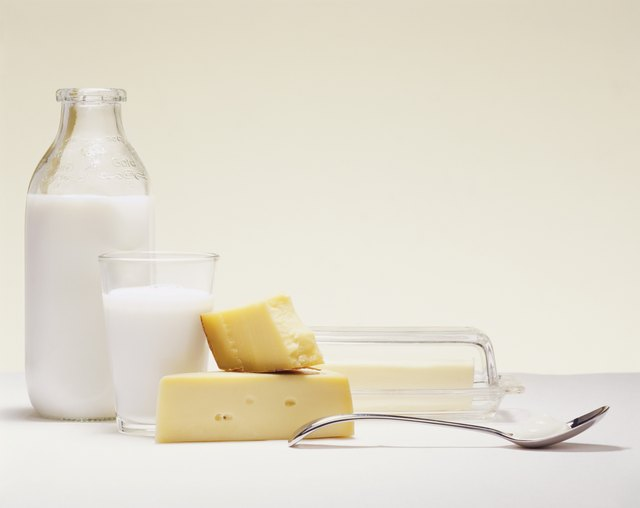 Milk and cheese are good sources of vitamin A.