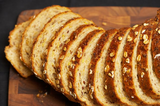 try eating whole grain bread for a burning stomach