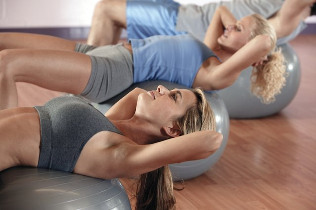 Stability ball exercises.