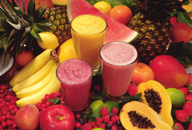 Smoothies work well as a snack.