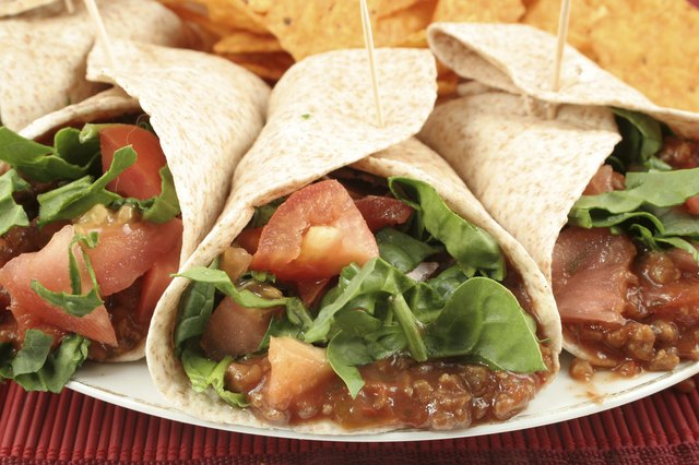 Soft tacos are a healthy menu item.