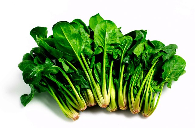 Spinach is a leafy green vegetable.