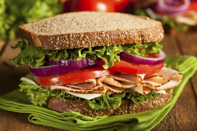 fresh turkey sandwich