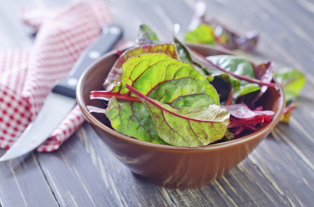 Swiss chard in a bowl